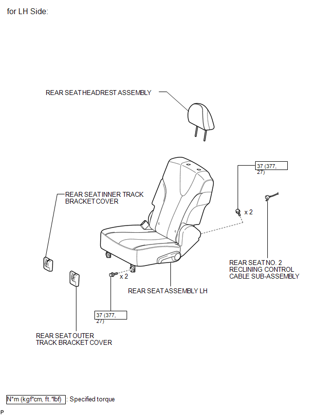 Rear Seat Outer Belt Assembly