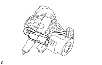 Toyota Venza: Disassembly - Steering Column Assembly