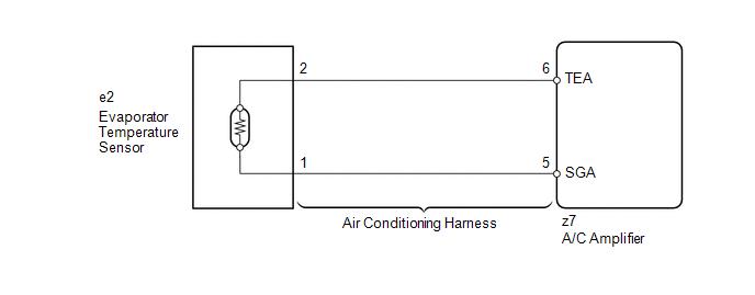 Toyota Venza: Evaporator Temperature Sensor Circuit (B1413/13) - Air