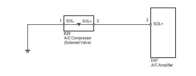 Toyota Venza: Compressor Solenoid Circuit (B1451/51) - Air ... on